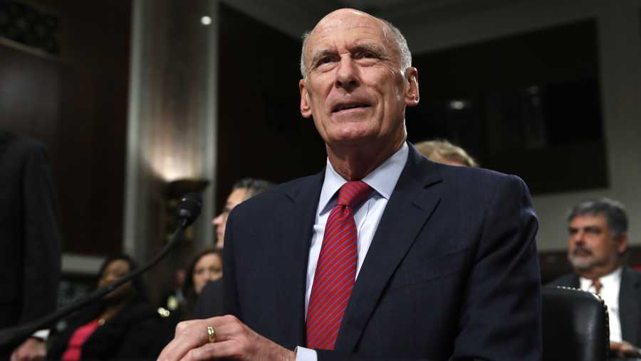 Director of National Intelligence Dan Coats prepares to testify on Capitol Hill in Washington, Tuesday, May 23, 2017, before the Senate Armed Services Committee hearing on worldwide threats.