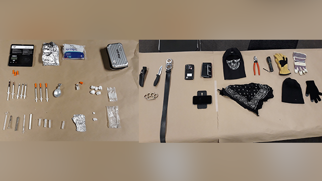 Man in Davis dumpster enclosure had meth, burglary tools, brass knuckles, police say