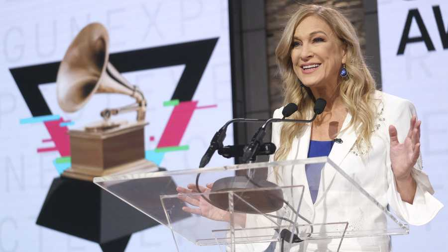 FILE - The Recording Academy on Monday fired Deborah Dugan, its former president who called into question the integrity of the Grammy Awards nominations process and said she was sexually harassed by a top lawyer for the organization, which she called a boys' club that coddled and favored powerful men.