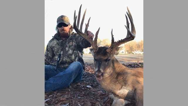 A Mississippi shot an 11-point buck last Wednesday.