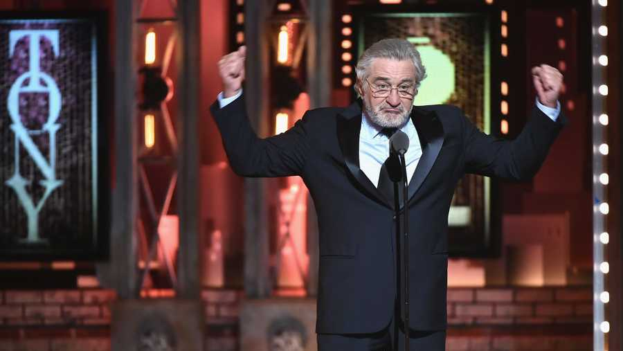 Robert De Niro speaks onstage during the 72nd Annual Tony Awards at Radio City Music Hall on June 10, 2018 in New York City.