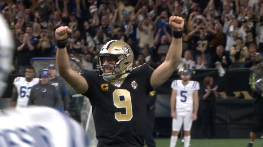 Drew Brees celebrates NFL Record 540th TD pass