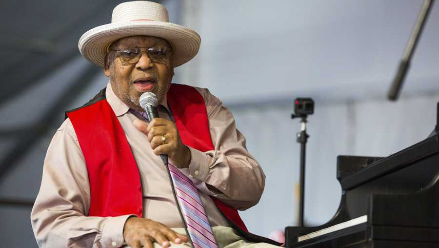 FILE - This April 28, 2019, file photo, shows Ellis Marsalis during the New Orleans Jazz & Heritage Festival in New Orleans. New Orleans Mayor LaToya Cantrell announced Wednesday, April 1, 2020, that Marsalis has died. He was 85.