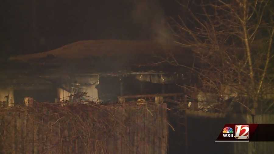 Mobile home fire in Davidson County
