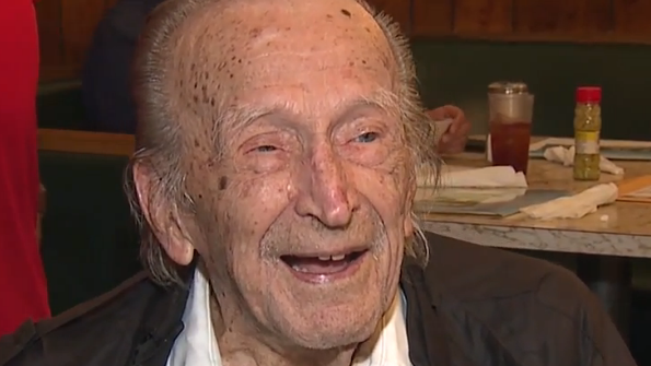 Frank Fesler was born on June 18, 1910. His friends and family gathered to honor him.
