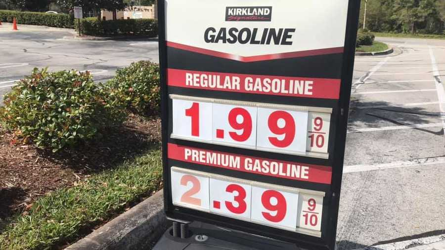 Gas prices drop in Central Florida