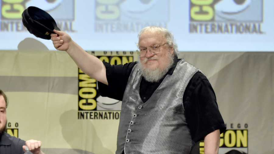 "Writer George R.R. Martin attends HBO's ""Game Of Thrones"" panel and Q&A during Comic-Con International 2014 at San Diego Convention Center on July 25, 2014 in San Diego, California."