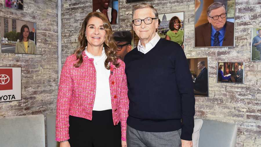 Bill and Melinda Gates in the CBS Toyota Greenroom before their appearance on CBS This Morning on Feb 12, 2019.