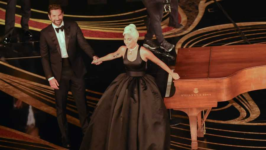 Lady Gaga and Bradley Cooper perform during the 91st Annual Academy Awards at the Dolby Theatre in Hollywood, California on Feb. 24, 2019.