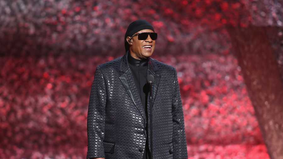 Stevie Wonder speaks onstage during Motown 60: A GRAMMY Celebration at Microsoft Theater on Feb. 12, 2019, in Los Angeles, California.