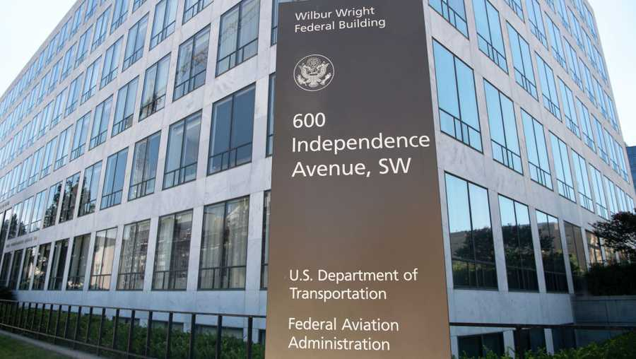 The Federal Aviation Administration building is pictured in Washington on Monday, July 13, 2020. (Photo by Caroline Brehman/CQ-Roll Call, Inc via Getty Images)