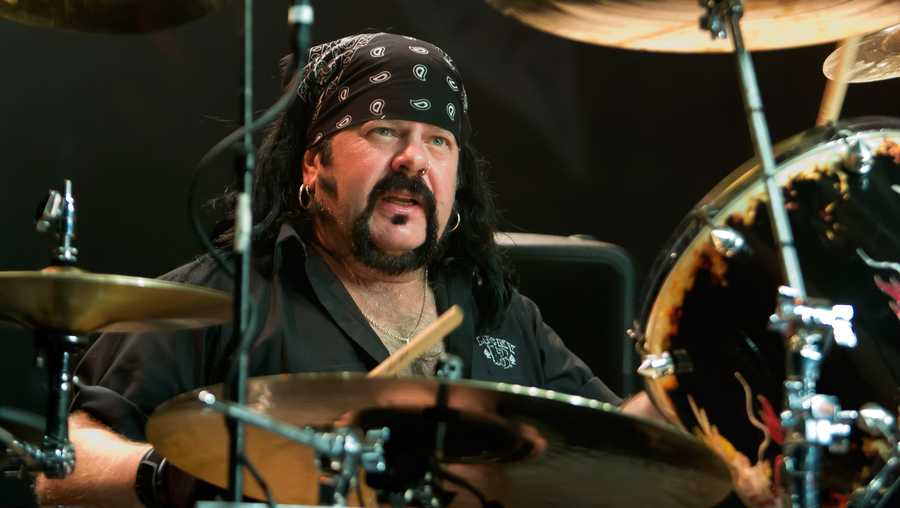 Vinnie Paul of Hellyeah performs at The Fillmore on June 19, 2012 in Detroit, Michigan.