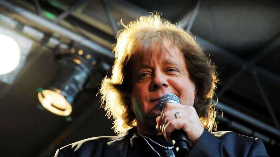 "NEW YORK, NY - JUNE 07:  Singer Eddie Money performs during ""FOX & Friends"" All American Concert Series outside of FOX Studios on June 7, 2013 in New York City."