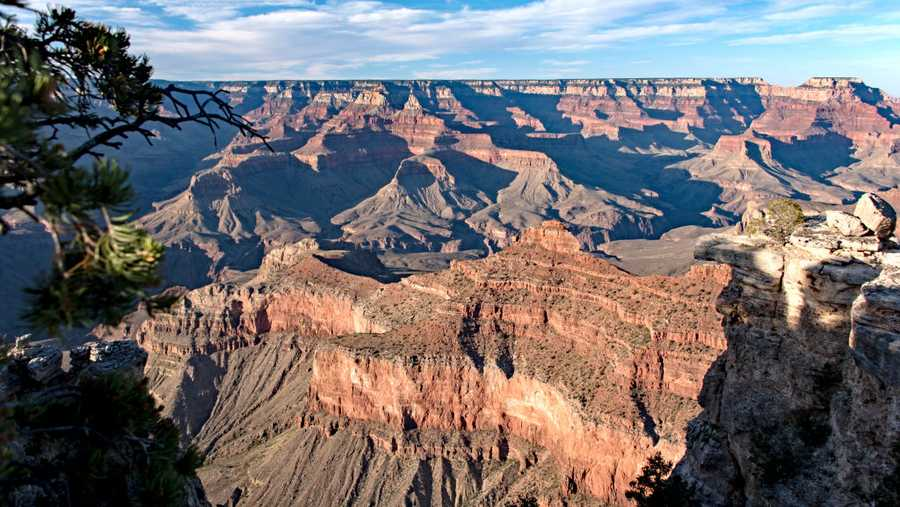View from the South Rim, Grand Canyon, Arizona.