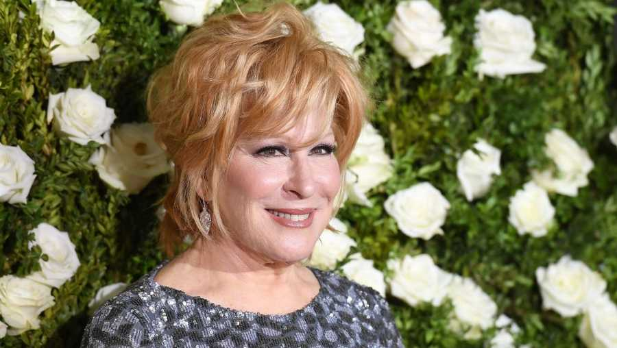 Bette Midler attends the 2017 Tony Awards - Red Carpet at Radio City Music Hall on June 11, 2017, in New York City.