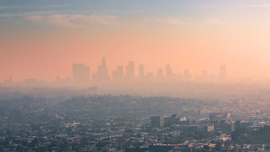 USA, California, Los Angeles, smog over Los Angeles