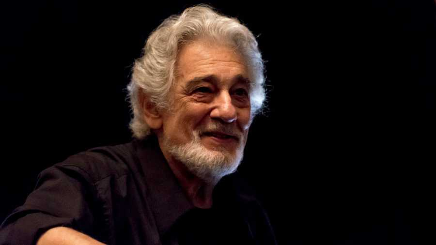 Spanish tenor and conductor Placido Domingo takes a bow as he conducts the final dress rehearsal prior to the season premiere of the Metropolitan Opera/Bartlett Sher production of Charles Gounod's 'Romeo et Juliette' at the Metropolitan Opera House at Lincoln Center, New York, New York, April 20, 2018.