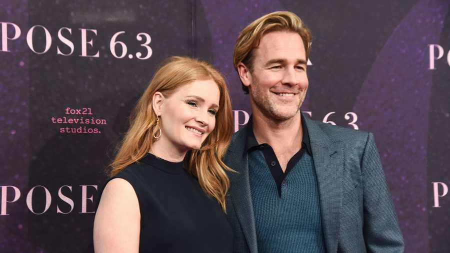 James Van Der Beek with wife Kimberly Brook attend the New York premiere of FX series 'Pose' at Hammerstein Ballroom on May 17, 2018 in New York City.