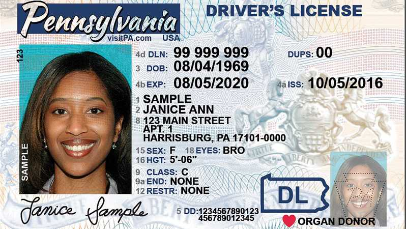 Licenses To Identification Newly-designed Phase Penndot In Driver Cards
