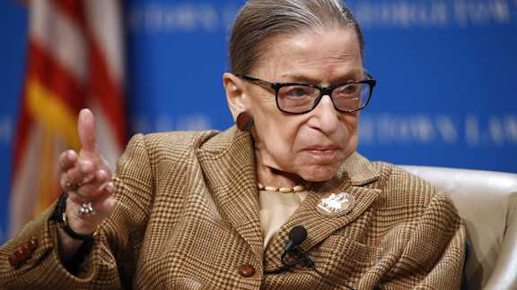 U.S. Supreme Court Associate Justice Ruth Bader Ginsburg is shown in this file photo.