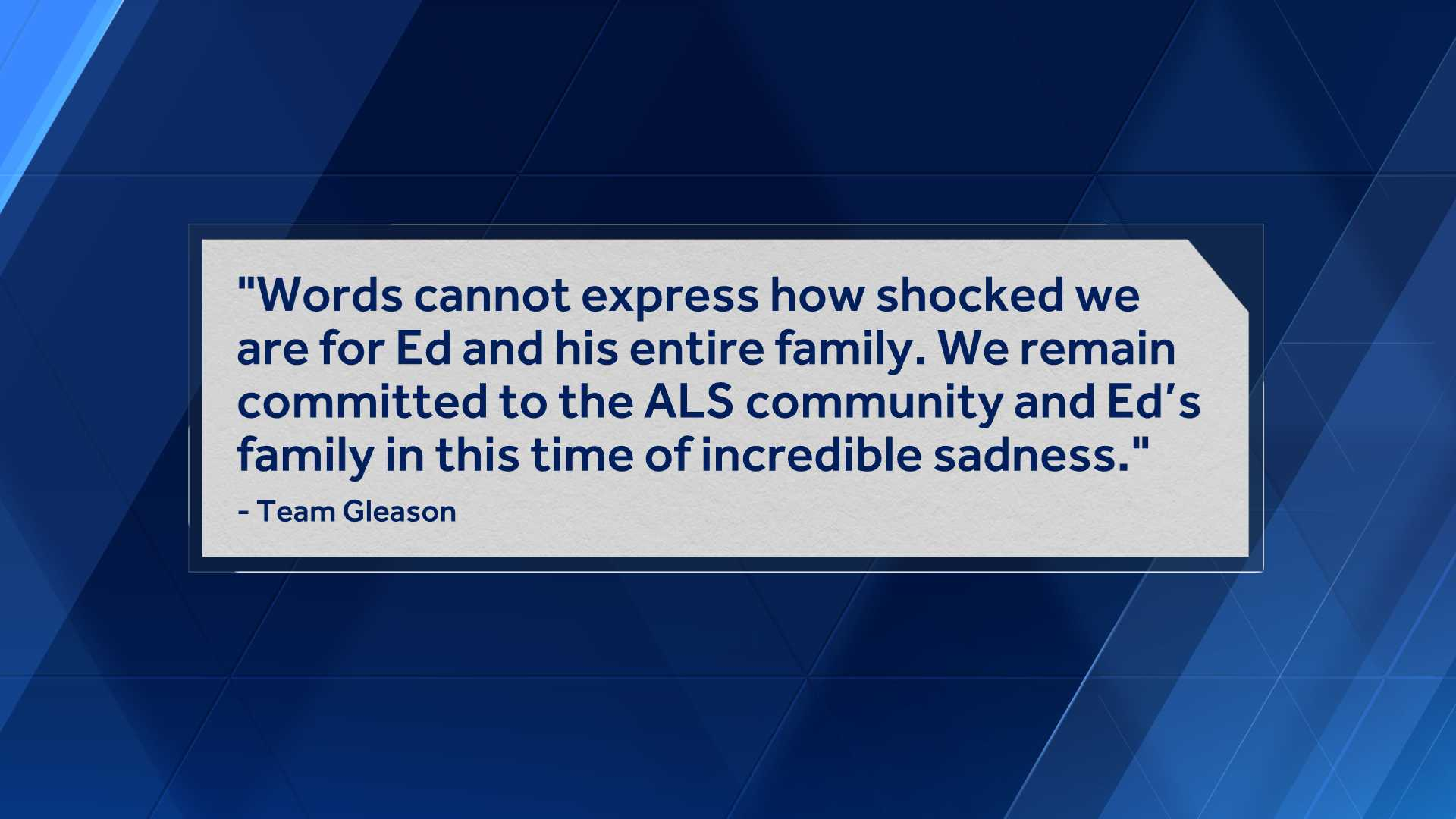Team Gleason issues statement on crash