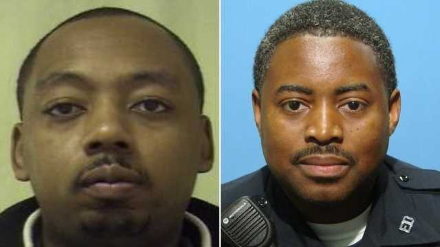 Gregg Thomas (left), Sgt. Keith McNeill (right)