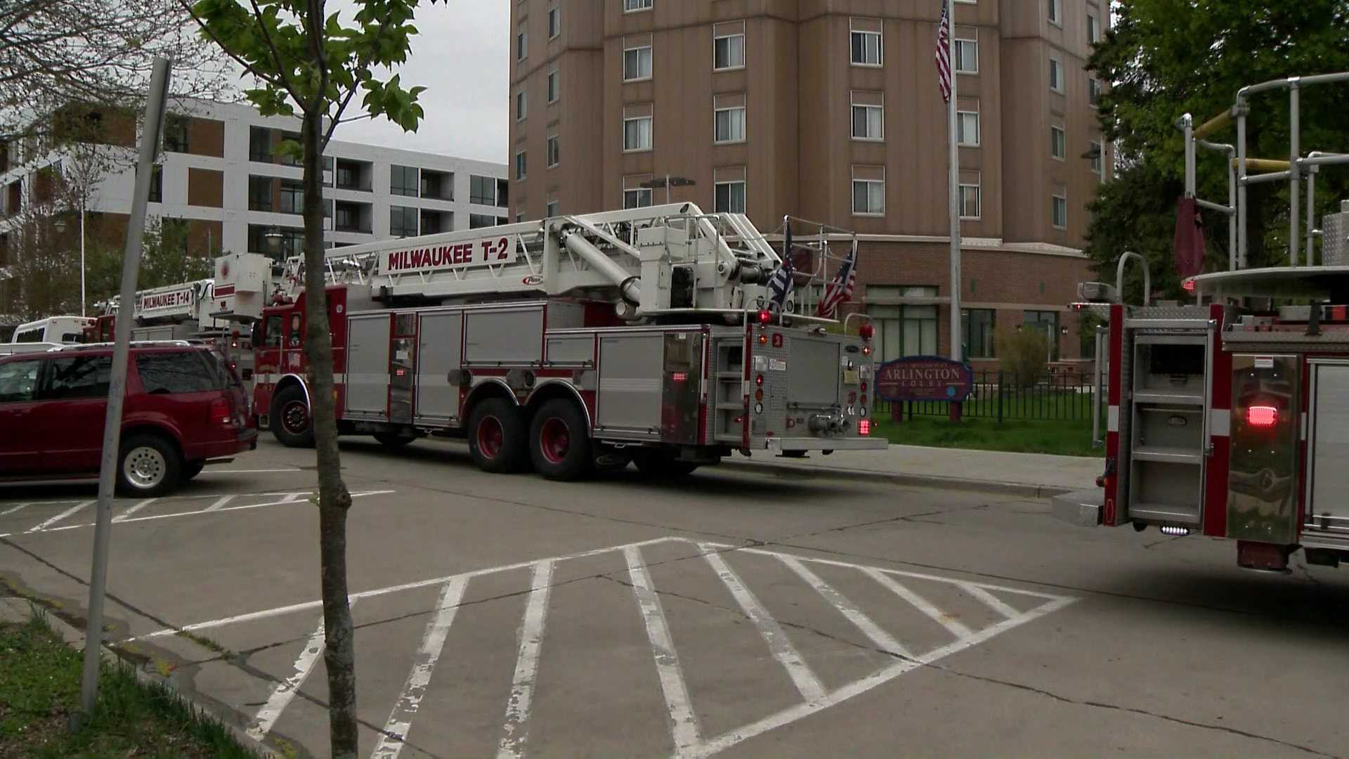 One woman hurt in a high rise fire on Milwaukee's east side
