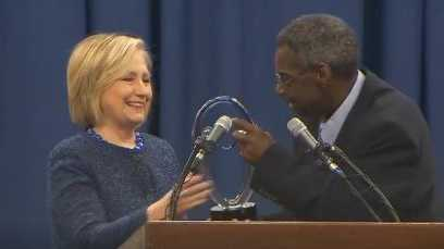 HIllary Clinton receives award in Selma