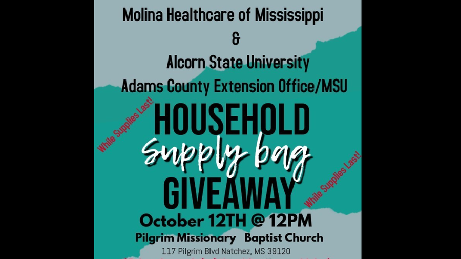 Household supply bag giveaway
