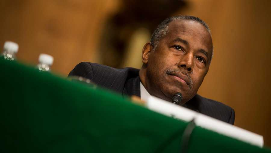 Housing and Urban Development Secretary Ben Carson testifies during a Senate Banking, Housing, and Urban Affairs Committee hearing on Sept. 10, 2019 in Washington, DC.