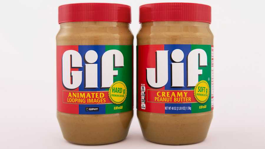 Jif is releasing a limited-edition jar of GIF peanut butter in a collaboration meant to be as smooth as the product itself. The limited edition jar is on the left.