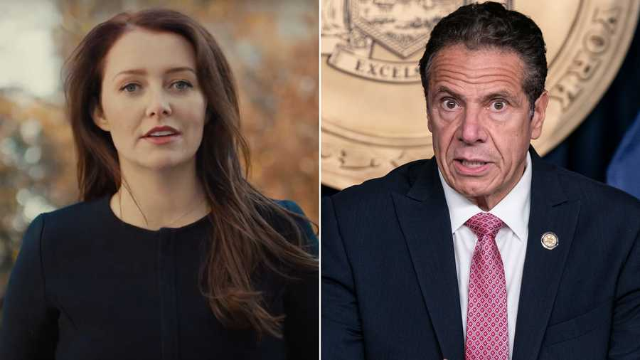 Lindsey Boylan, on left, is a former aide of New York Gov. Andrew Cuomo, on right. Cuomo is denying allegations from Boylan who accused him of sexual harassment, including an unwanted kiss.