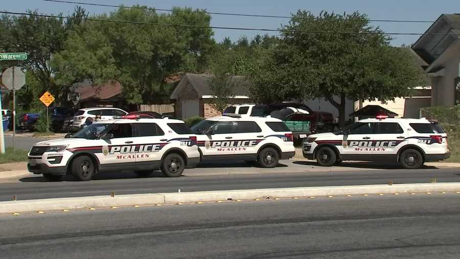 Two police officers were shot and killed in McAllen, Texas, on Saturday, July 11, 2020.