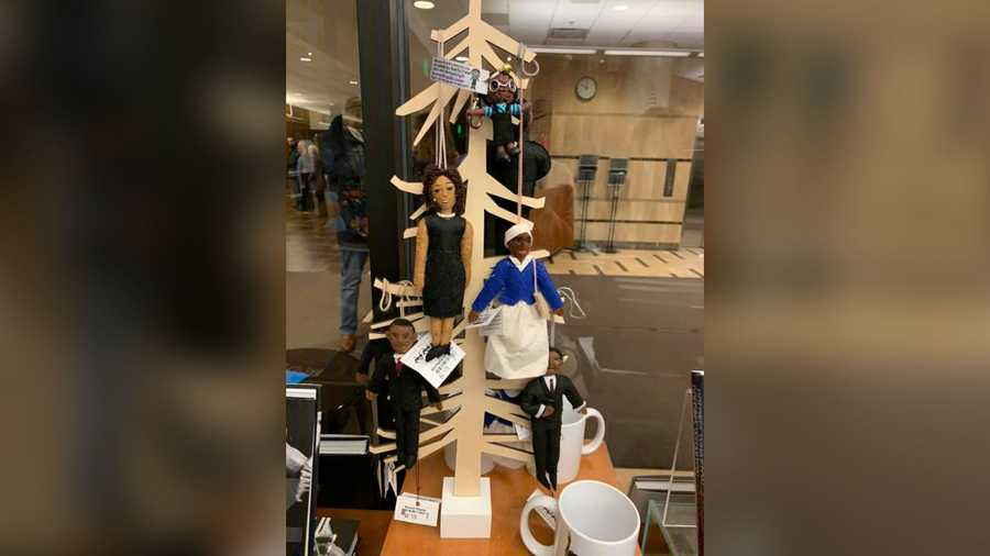 This display in a Michigan State University gift shop reminded Krystal Rose Davis-Dunn of lynching. When she asked the gift shop employees if they thought something was wrong with it, they said no.