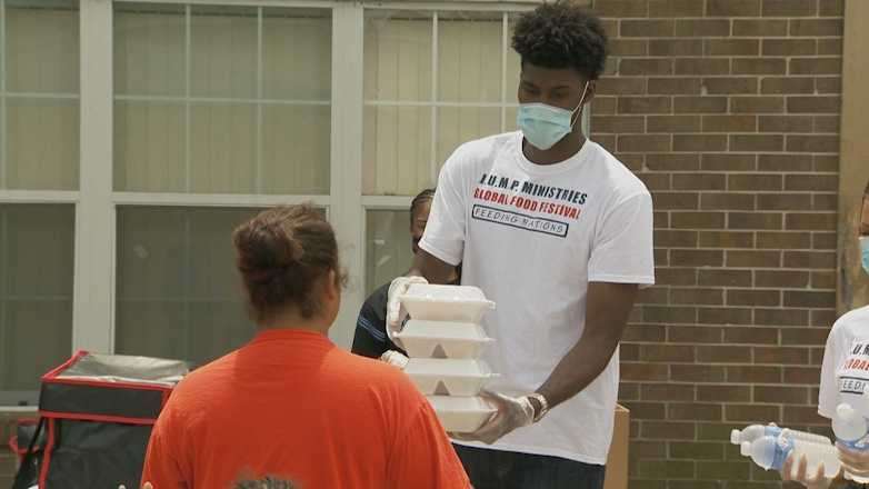Second year Magic forward, Jonathan Isaac isn't just sitting idly by he is using this downtime to (safely) give back to our community.