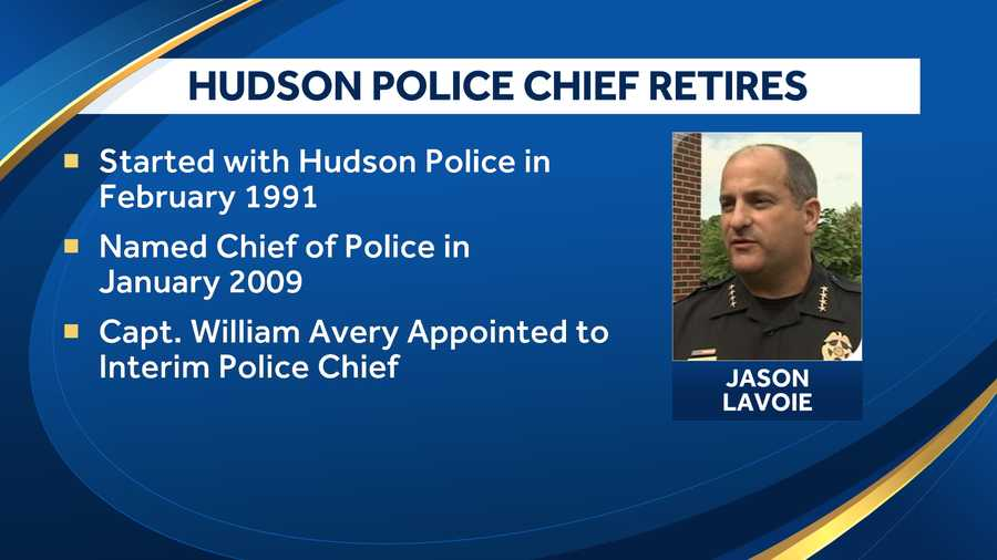 Longtime Hudson police chief retires