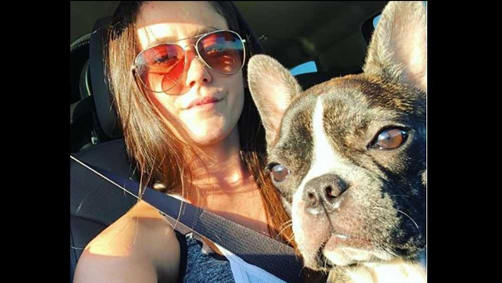 Jenelle Evans and her dog, Nugget