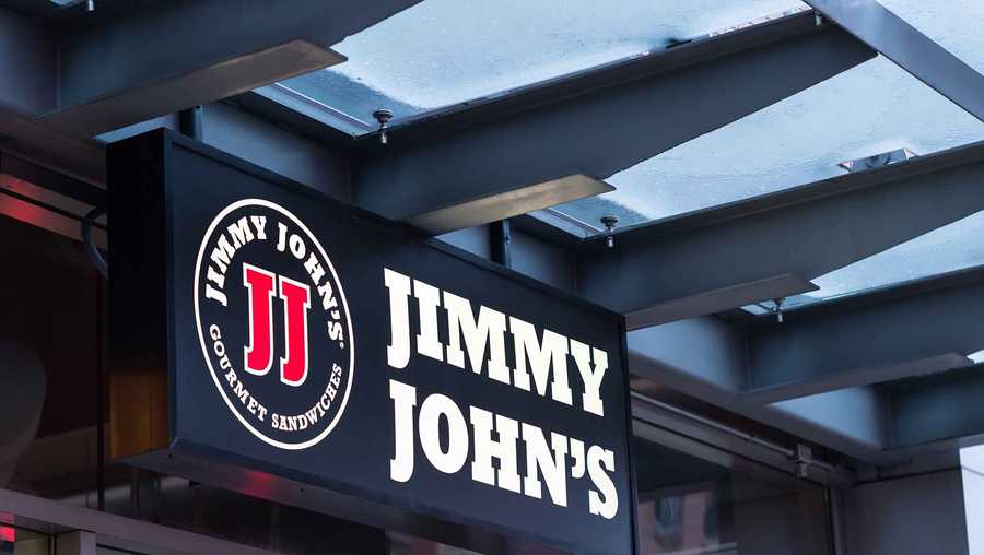 Jimmy John's store sign and logo