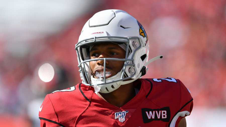 Arizona Cardinals' Josh Shaw (27) during the first half of an NFL game between the Arizona Cardinals and the Tampa Bay Bucs on November 10, 2019, at Raymond James Stadium in Tampa, FL.