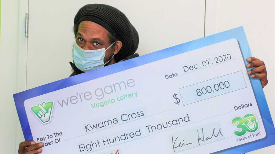 Virginia business owner Kwame Cross played the same number combination 160 times in one state lotto game and hit a major jackpot.