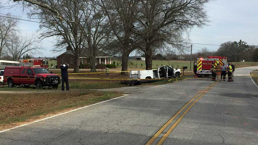 The wreck happened on Neely Ferry Road at Covenant Drive in Laurens County.