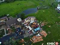Lawrence tornado damage