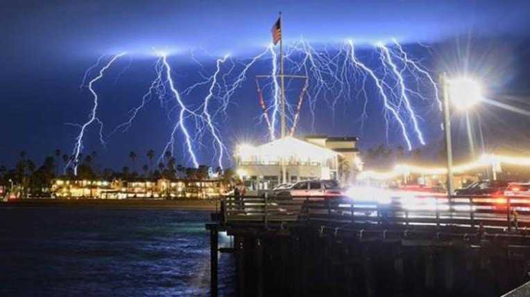 LA-area residents were treated to an unusual light show in the sky