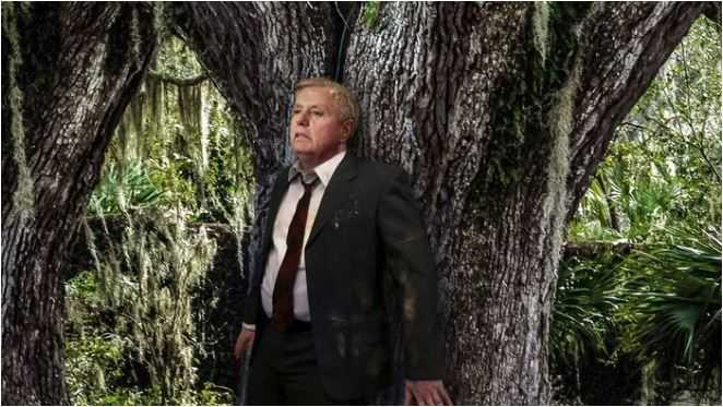"From Jan. 24 article: ""Lindsey Graham Cowers Behind Tree Trunk As Trump's Hunting Dogs Close In"""