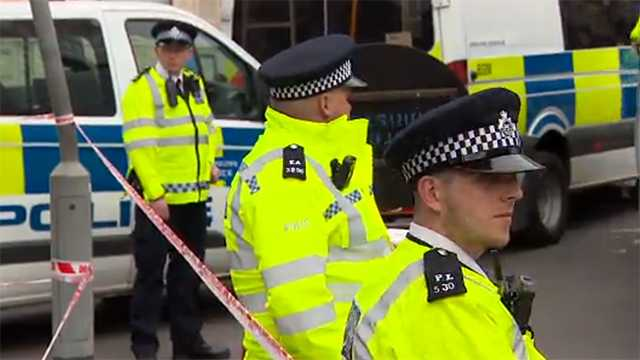 Authorities shown at the scene of a deadly attack in London