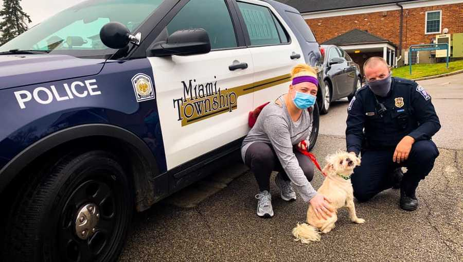 Miami Township Police Officer Evans reunites owner with missing dog