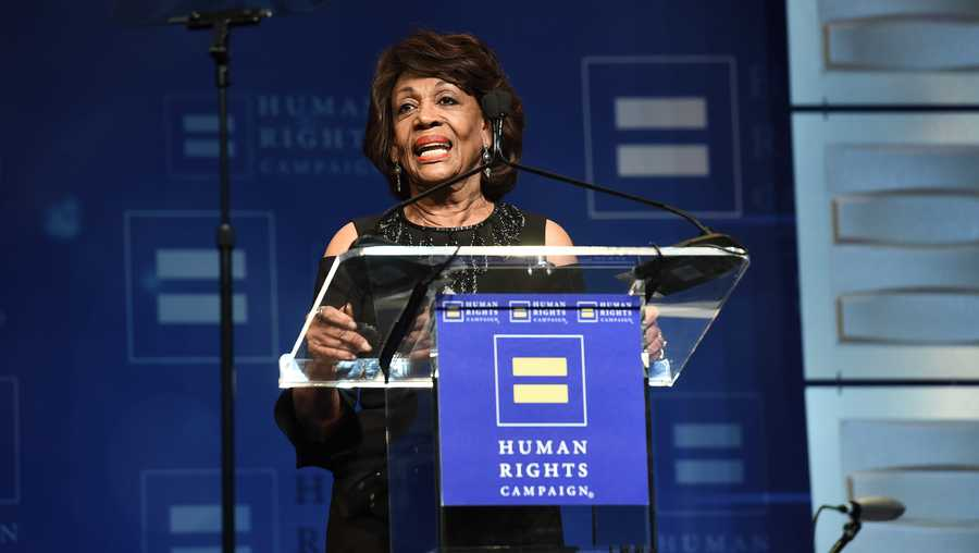 U.S. Congresswoman Maxine Waters seen at the 2018 Human Rights Campaign Los Angeles Dinner at JW Marriott L.A. Live on Saturday, March 10, 2018, in Los Angeles.