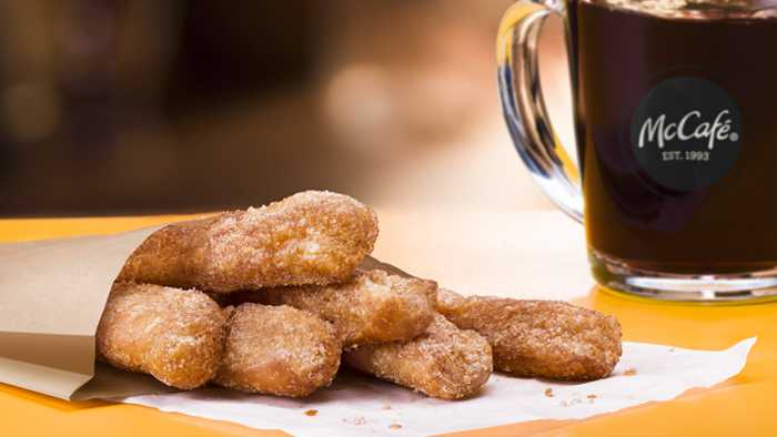 For a limited time, starting Feb. 20, customers can get Donut Sticks during breakfast hours at participating restaurants nationwide.