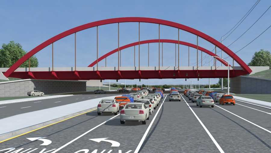 Artistic rendering of I-5920 arch over McFarland Blvd in Tuscaloosa