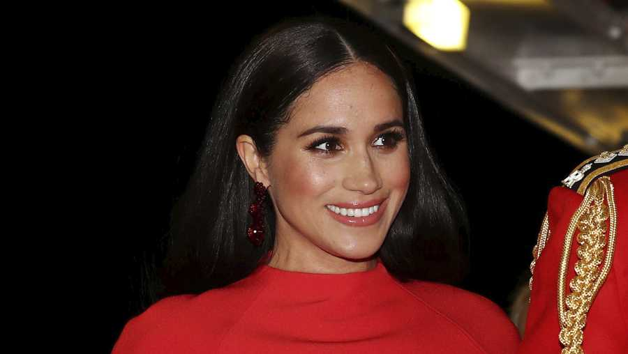 A British judge ruled Thursday Feb. 11, 2021, that a newspaper invaded Meghan Markle's privacy by publishing personal letter to her estranged father. (Simon Dawson/Pool via AP, File)
